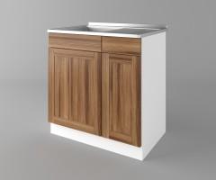Долен кухненски шкаф с мивка - с едно работещо чекмедже Калатея - Канела 4