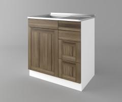 Долен кухненски шкаф с мивка - с четири работещи чекмеджета Калатея - Ким 1