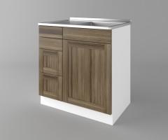 Долен кухненски шкаф с мивка - с четири работещи чекмеджета Калатея - Ким 2