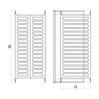 Отцедник за вграждане - за шкаф 600, 700, 800, 900 mm  2