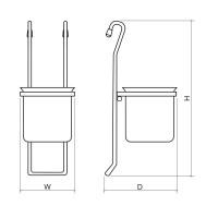 Поставка за прибори  - метална, единична  10KC.3115 2