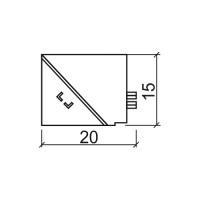 Вътрешен ъгъл за водобранна лайстна 07VA.223.1 2