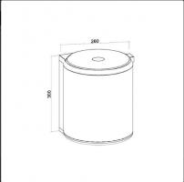Кош за вграждане - вместимост 10л. 2