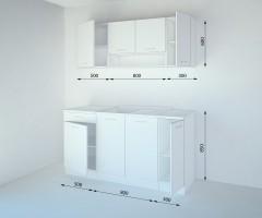 Кухненски комплект Нарцис Мат - L 160 cm 2