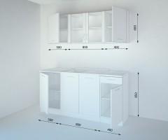 Кухненски комплект Нарцис Мат Стъкло - L 170 cm 2