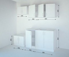 Кухненски комплект Нарцис Мат - L 130 cm 1