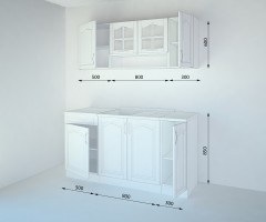Кухненски комплект Астра Натурална - L 160 cm 1
