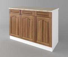 Долен кухненски шкаф с три чекмеджета и три врати Астра - Канела 1