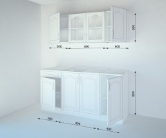 Кухненски комплект Астра Ким - L 170 cm 1