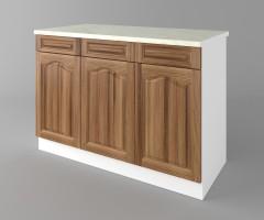 Долен кухненски шкаф с три чекмеджета и три врати Астра - Канела 2