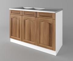 Долен кухненски шкаф с двукоритна мивка  Астра - Канела 1