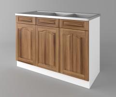 Долен кухненски шкаф с двукоритна мивка  Астра - Канела 2