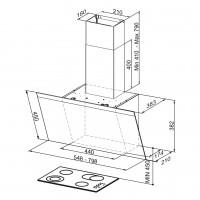 Вертикален аспиратор PRIORITY A55/Черно стъкло 2