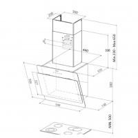 Вертикален аспиратор  COCKTAIL EV8 A55 FABER 2