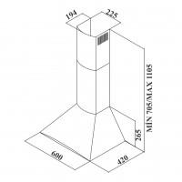 Декоративен абсорбатор ARC 60E X /инокс/ 2