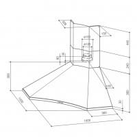 Ъглов аспиратор SOLARIS EG6 X A100 2