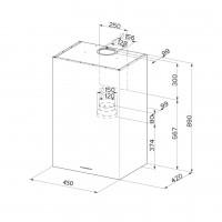 Аспиратор с кубична форма PANEL Еurolux 2