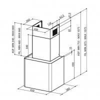 Аспиратор с кубична форма LITHOS CONCRETE FABER 2