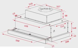 Телескопичен абсорбатор за вграждане CNL 6815 Plus 2