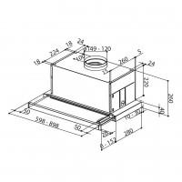 Телескопичен аспиратор за вграждане MAXIMA Touch 2