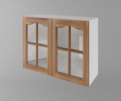 Горен кухненски шкаф с две врати за стъкло Астра - Канела 1