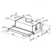 Телескопичен аспиратор FLEXA GLASS LUX А60 FABER  2