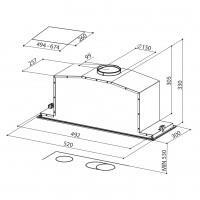 Аспиратор за пълно вграждане INCA LUX GLASS A52 FABER 2