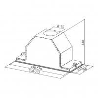 Аспиратор за пълно вграждане INCA LUX SMART EV8 X A70 Инокс 2