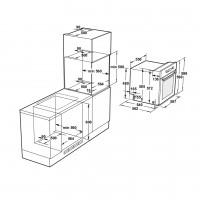 Фурна за вграждане FVS TC11CT2 XS Инокс / Черно стъкло Eurolux