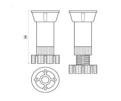Кухненски крак  РVC на две части 2