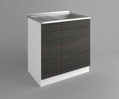 Долен кухненски шкаф с мивка - с четири работещи чекмеджета Вега 2