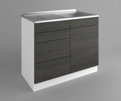 Долен кухненски шкаф с мивка - с четири работещи чекмеджета Вега 4