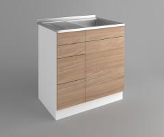 Долен кухненски шкаф с мивка - с четири работещи чекмеджета Поларис 1