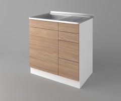 Долен кухненски шкаф с мивка - с четири работещи чекмеджета Поларис 2