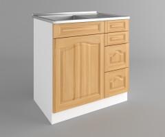 Долен кухненски шкаф с мивка - с четири работещи чекмеджета Астра - Натурална 2
