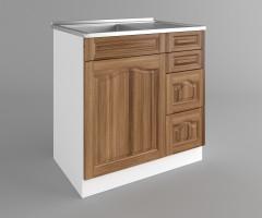Долен кухненски шкаф с мивка - с четири работещи чекмеджета Астра - Канела 2