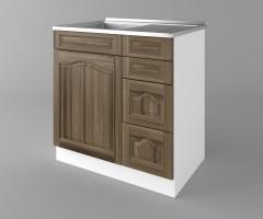 Долен кухненски шкаф с мивка - с четири работещи чекмеджета Астра - Ким 1