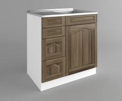 Долен кухненски шкаф с мивка - с четири работещи чекмеджета Астра - Ким 2