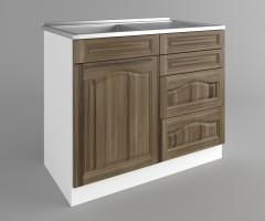 Долен кухненски шкаф с мивка - с четири работещи чекмеджета Астра - Ким 3