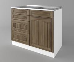 Долен кухненски шкаф с мивка - с четири работещи чекмеджета Астра - Ким 4