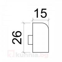 Външен ъгъл за водобранна лайстна- вертикален 5