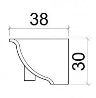 Вътрешен ъгъл за водобранна лайстна  5