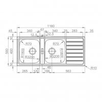Мивка за вграждане TITAN 116.2 TI 2