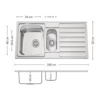 Мивка за вграждане TITAN 100.2 TI 1
