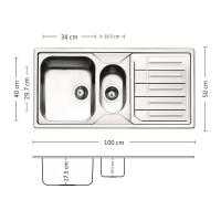 Мивка за вградждане  MELODIA 100.2 TI 1