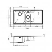 Мивка за вградждане  MELODIA 100.2 TI 2