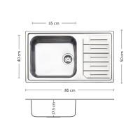 Мивка за вграждане  MELODIA BB 86.1 TI LEKS 1
