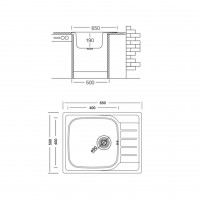 Мивка за вграждане COMPACT BB 65.1 SI 2