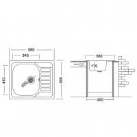 Мивка за вграждане COMPACT 58.1 SI   2