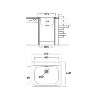 Мивка за вграждане COMPACT 570 SI 2